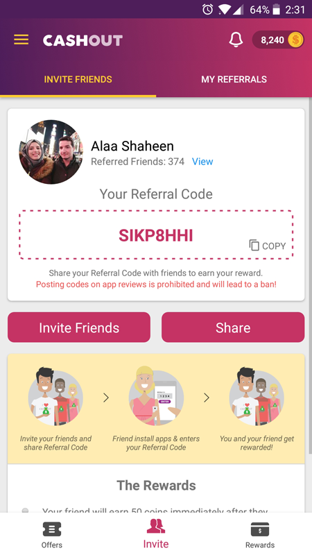 Invite Friends - Screenshot