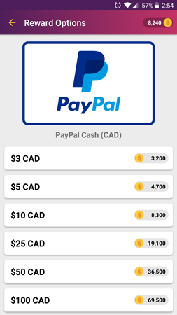 PayPal Reward - Screenshot